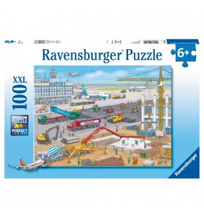 Puzzle Baustelle am Flughafen
