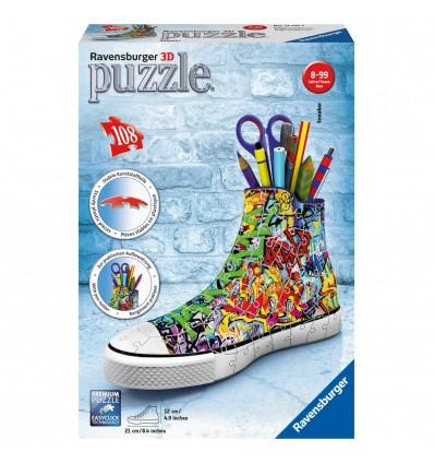 Puzzle 3D Sneaker Graffiti