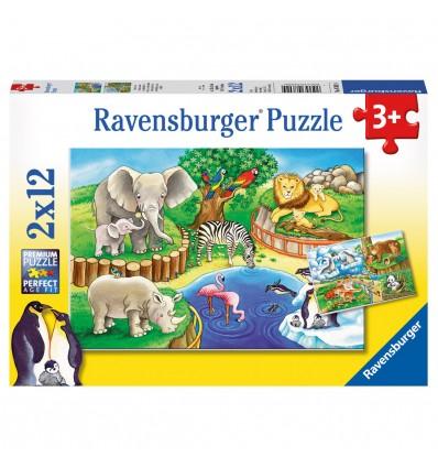 Puzzle Tiere im Zoo