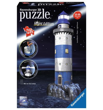 3D Puzzle Leuchtturm bei Nacht