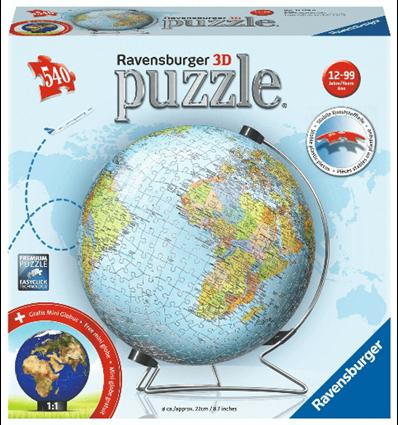 3D Puzzle Globus 2019