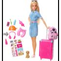 Puppe Travel Barbie mit Zubehör