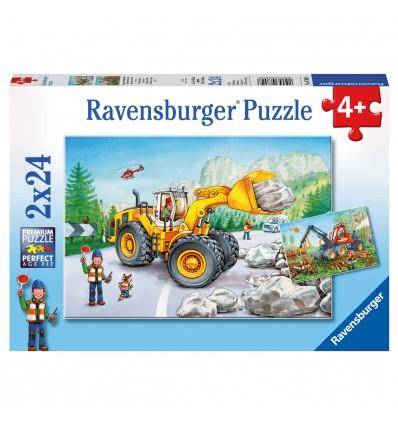 Puzzle Bagger u. Waldtraktor