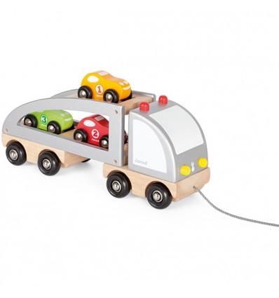Lastwagen mit Rennwagen