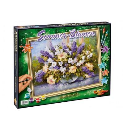 Malset Malen nach Zahlen Sommerblumen