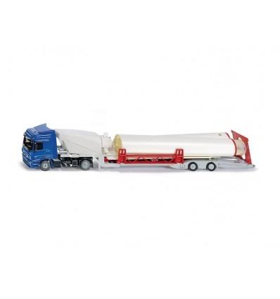 Lastwagen LKW mit Windkraftanlage